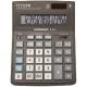 Калькулятор настольный Citizen Correct 16 разрядов двойное питание черный D-316